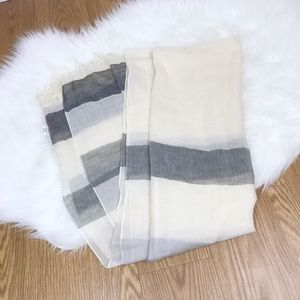 Madewell Accessories - Madewell Cream and Gray Scarf